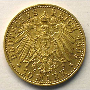 10 Mark   1909 G  (Karlsruhe)    TTB+