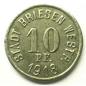 10 Pf.   1918    TTB+