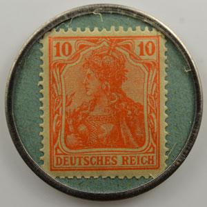 10 Pf orange/vert   Rüsselsheim a.M.    SUP