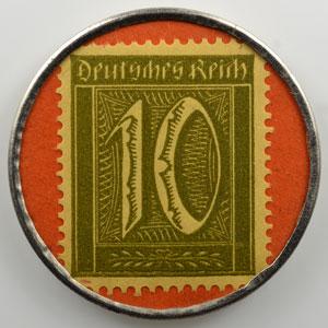 10 Pf vert/orange   Schreibe mit Pelikan Tinte    SUP