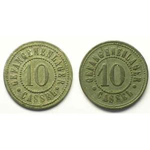 10 Pfennig et 10 Pfennig var. de R/    TTB