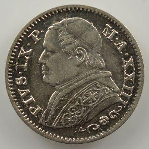 10 Soldi   1868 R  (Rome)  Année XXIII    SUP