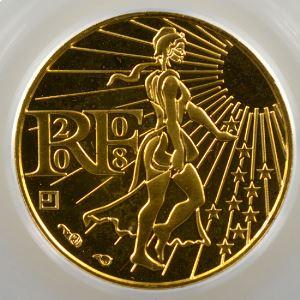 100 €   2008    PCGS-MS68    BE