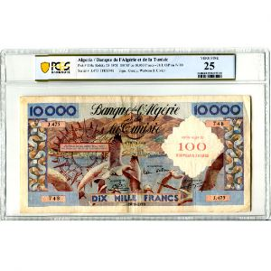 100 Nouveaux Francs surchargés sur 10000 Francs   28-1-1958    TB+/TTB    PCGS-VF25