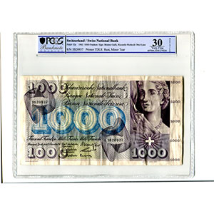 1000 Francs   Danse des morts   21 Décembre 1961    TTB    PCGS- VF30 Details