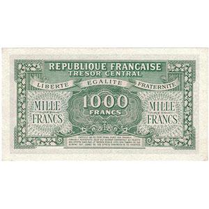1000 Francs   impression anglaise   1945   séie A    NEUF