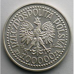 100000 Zt   1994   50° anniversaire de l'insurrection de Varsovie    FDC