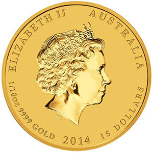 15 Dollars   2014   année du cheval (Year of the horse)    BE