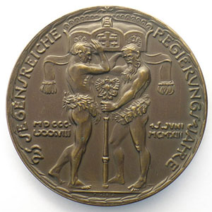 15 juin 1913   bronze   50,5mm    SUP/FDC