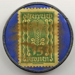 15 Kronen vert/bleu   Wien    TTB