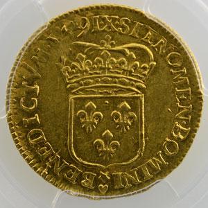 1691 X (Amiens)  flan réformé    PCGS-AU55    TTB+/SUP