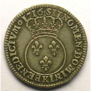 1716 K  flan neuf  (Bordeaux)    TB+/TTB