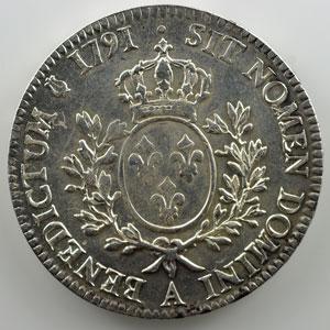 1791 A  (Paris)  1er sem.  Héron    TTB+/SUP