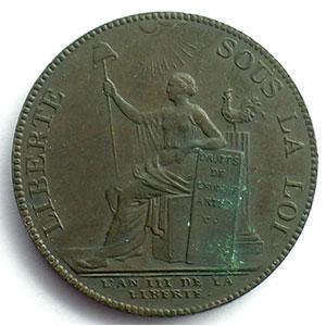 1791  An III   var.50L   bronze    TTB