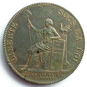 1791  An III   var.50L   bronze    TTB+/SUP