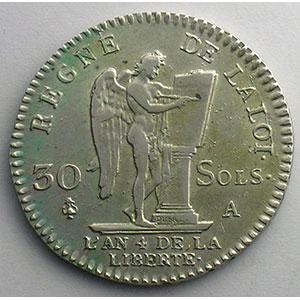 1792 A  (Paris)  1er sem.    TTB+/SUP