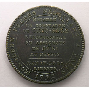 1792  An IV   bronze    TTB+/SUP