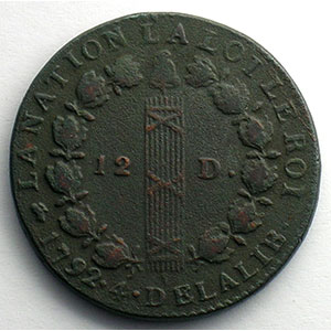 1792 D  (Lyon)    TB+