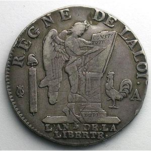 1793 A  (Paris)  1er sem.    TB+