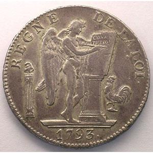1793 A  (Paris)  An II, point semestriel    TTB
