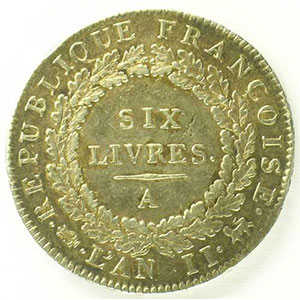 1793 A  (Paris)  An II, sans point    TTB/TTB+