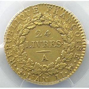 1793 A  (Paris)    PCGS-AU53    TTB+