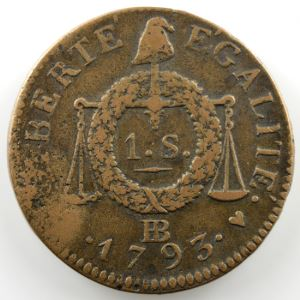 1793 BB  (Strasbourg)    TB+/TTB