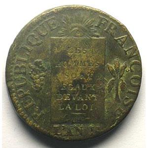 1793 D.  (Dijon)    TB+/TTB