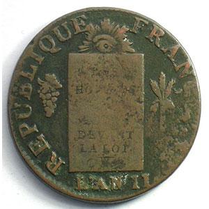 1793 L  (Bayonne)    B/TB