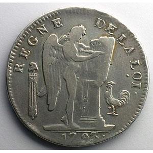 1793 W  (Lille)  An II, losange-étoile    TB+