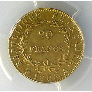 1806 A  (Paris)    PCGS-AU58    SUP