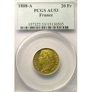 1808 A  (Paris)    PCGS-AU53    TTB+
