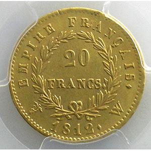 1812 W  (Lille)    PCGS-AU58    SUP
