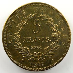 1816 Essai en bronze    TTB+