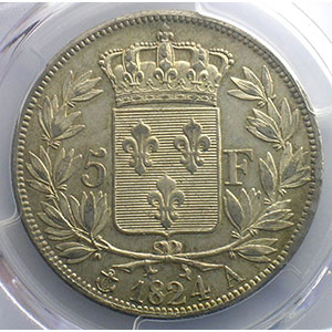 1824 A  (Paris)    PCGS-AU58    SUP