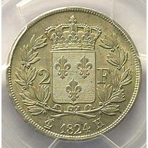 1824 H  (La Rochelle)    PCGS-AU58    SUP