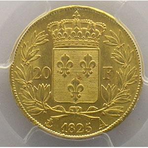 1825 A  (Paris)    PCGS-AU58    SUP