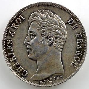 1830 A  (Paris)   tranche cannélée, revers à 4 feuilles    SUP/FDC