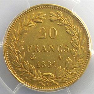 1831 A  (Paris)    PCGS-AU58    SUP