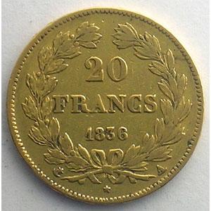 1836 A  (Paris)    TB+/TTB
