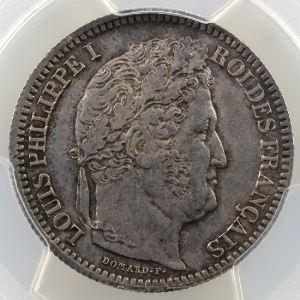 1837 B  (Rouen)    PCGS-MS64    pr.FDC