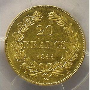 1844 A  (Paris)    PCGS-AU55    TTB+/SUP