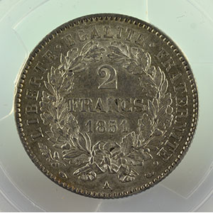 1851 A  (Paris)    PCGS-AU58    SUP