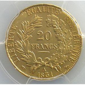 1851 A  (Paris)    PCGS-MS63    SUP/FDC