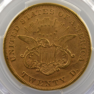 1852    PCGS Genuine altered surface - AU detail    TTB+
