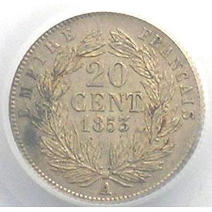 1853 A  (Paris)    PCGS-AU58    SUP