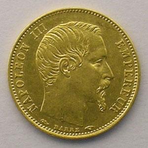 1854 A  (Paris)  tranche lisse    TTB+