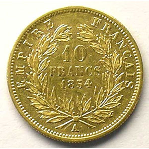 1854 A  tranche cannelée  (Paris)    TTB/TTB+