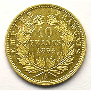 1854 A  tranche cannelée  (Paris)    TTB+/SUP