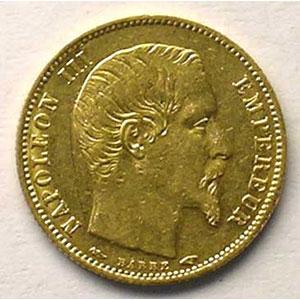 1854 A tranche cannelée    TTB